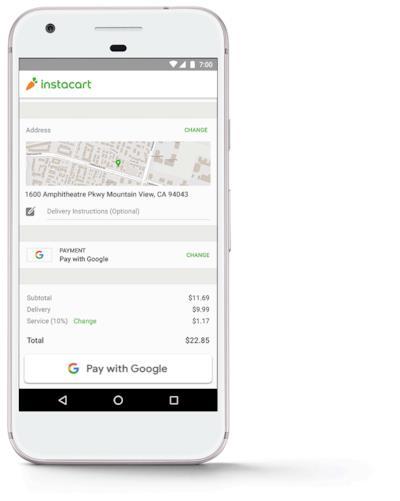 Una dimostrazione della facilità di utilizzo di Pay with Google