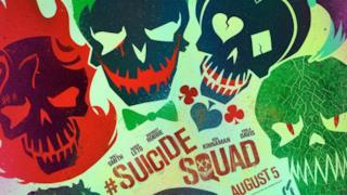 Il cartoon poster di Suicide Squad