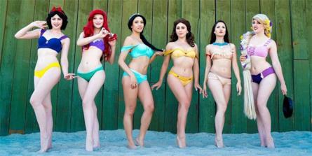 Costume Da Bagno Sirenetta Disney : I bikini delle principesse disney