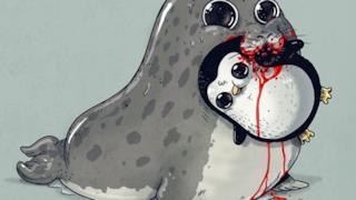 Un pinguino muore dissanguato tra le fauci di una foca leopardo
