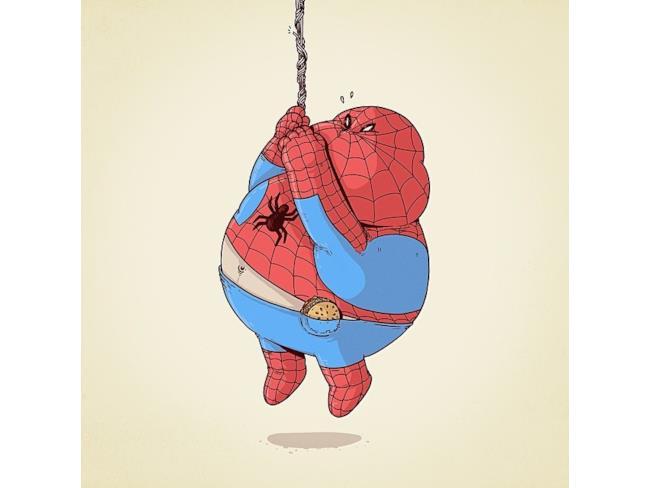 Uomo Ragno in versione obesa