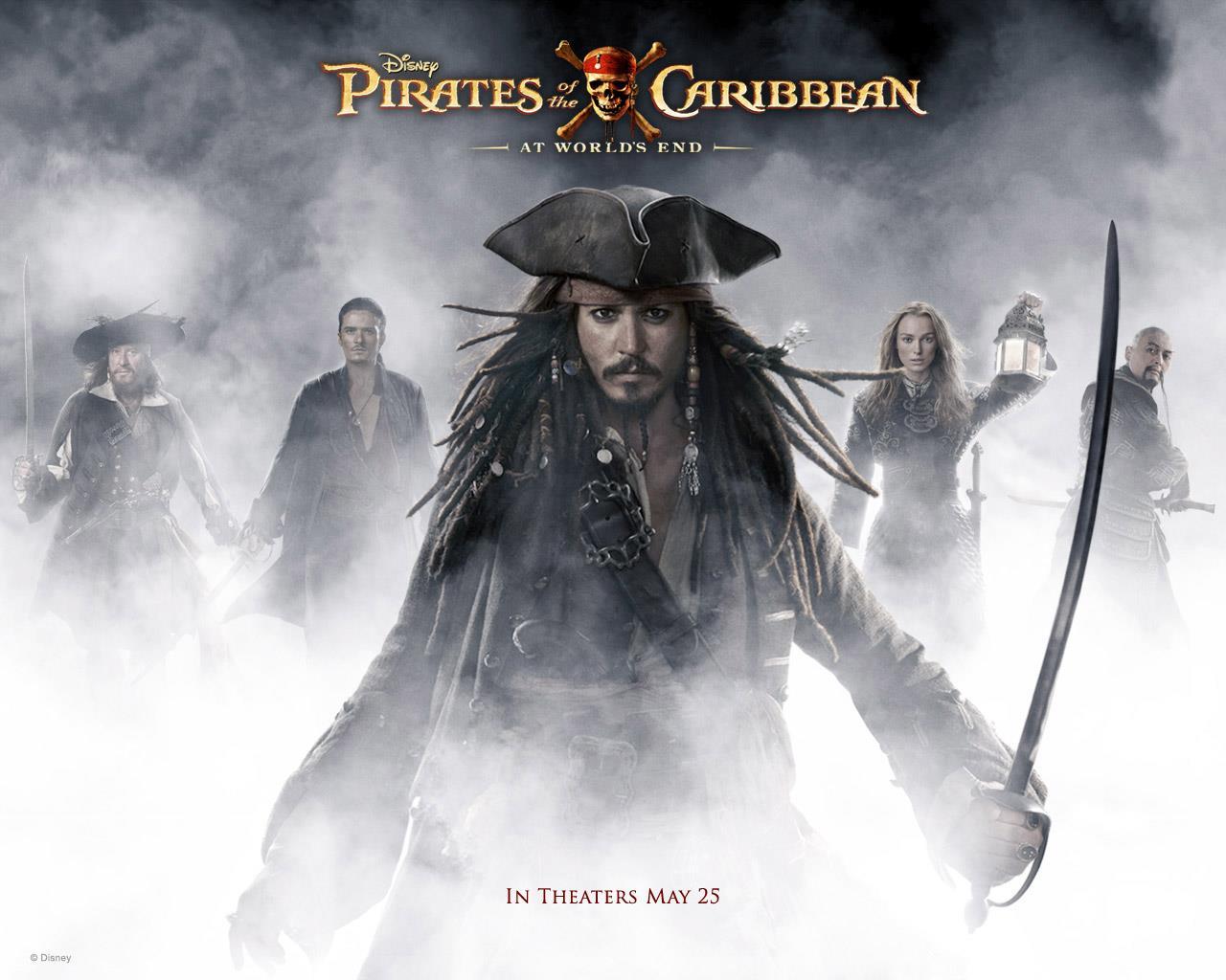 Poster promozionale del terzo film di Pirati dei Caraibi