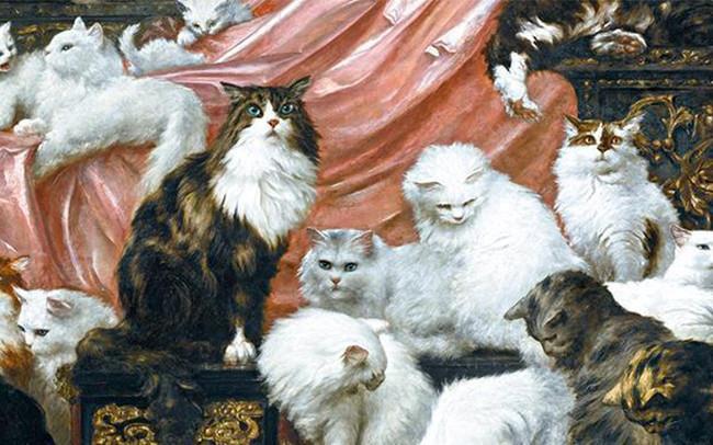 Parte del quadro gigante raffigurante 42 gatti