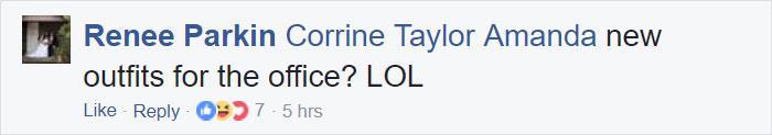un divertente commento da facebook