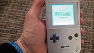 La foto del Game Boy.