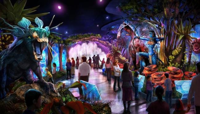 L'Avatar Exhibition in un disegno di prova