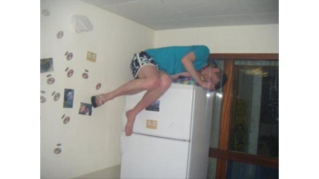 Il letto sul frigorifero