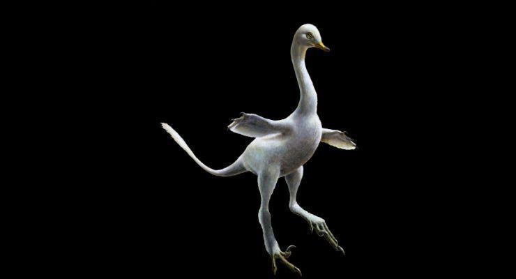 La ricostruzione digitale del dinosauro.