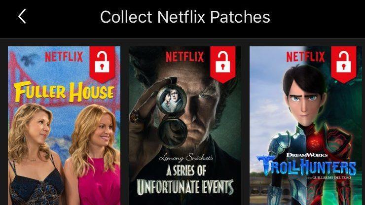 Le nuove icone a forma di lucchetto introdotte da Netflix