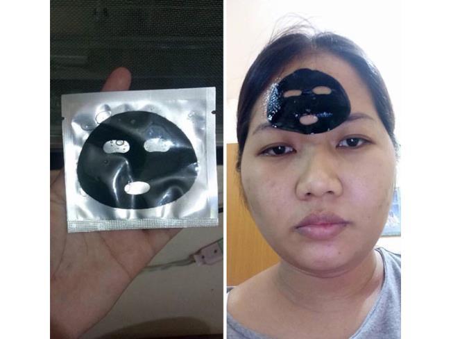 Una maschera facciale