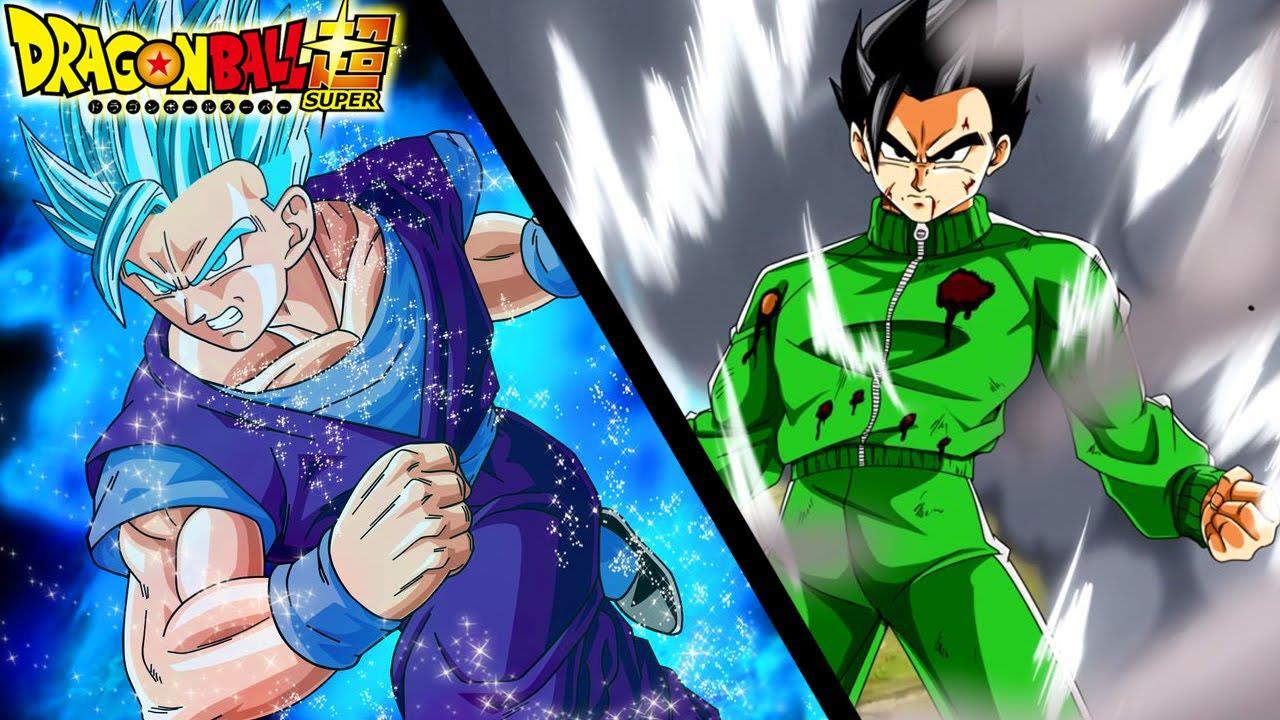 Gohan trasformato in super Sayan in dragon Ball Super