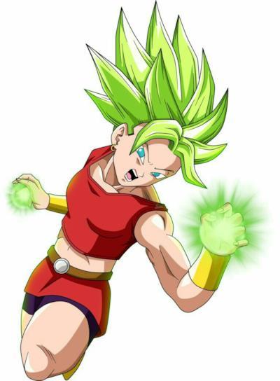 Kale trasformata in Super Saiyan