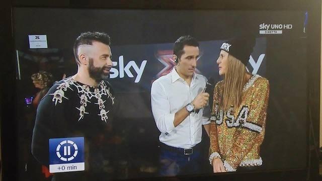 Tommassini e una fashion blogger a X Factor