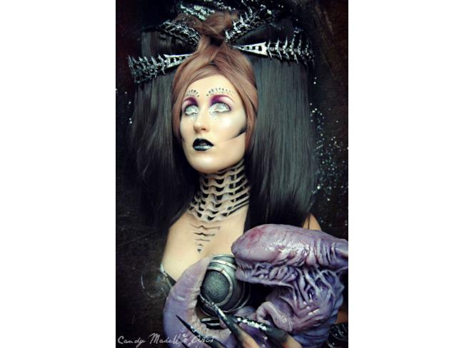 Make up ispirato allo sci-fi alien