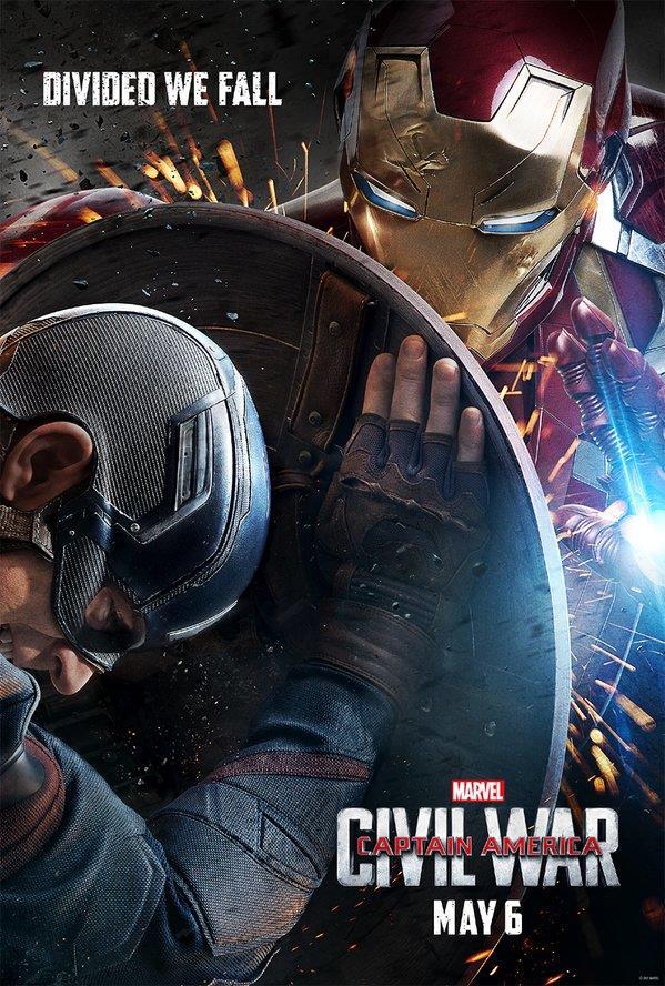 Iron Man nella locandina ufficiale di Civil War