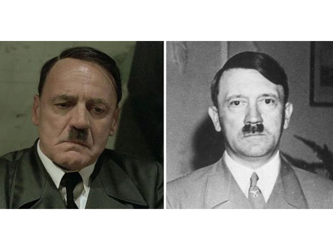 Bruno Ganz nelle vesti di Adolf Hitler