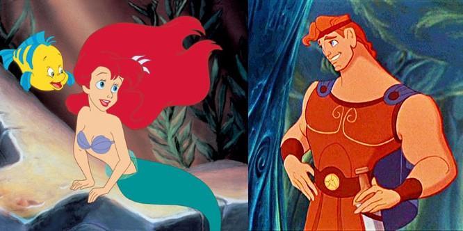 Ariel e Hercules sono entrambi figli di figure mitologiche greche, per cui sono imparentati!