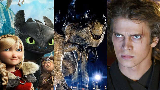 Godzilla, Dragon Trainer 2 e Star Wars Episodio 3 sono in TV