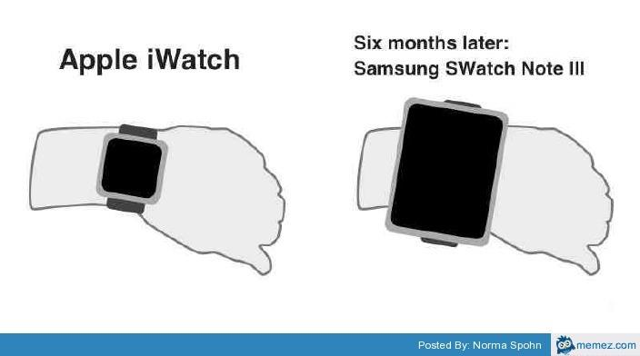Meme su iWatch e Samsung