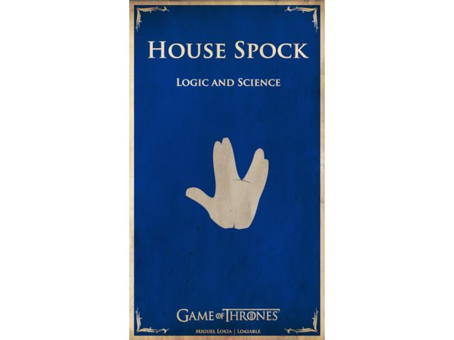 Banner di Casa Spock in Game of Thrones