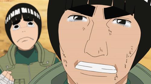 Il volto di Kakashi fa piangere Lee e Gai
