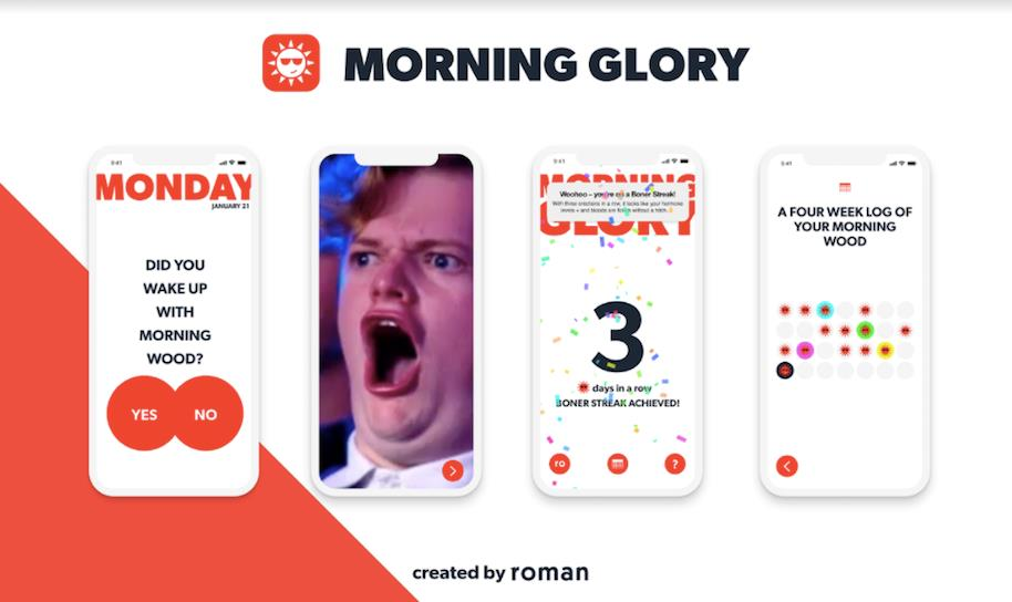 Degli screenshot dell'app Morning Glory