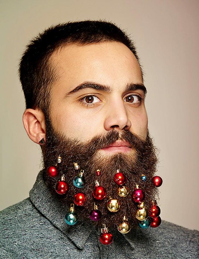 Decori natalizi per la barba