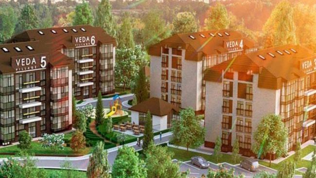 Una panoramica del Veda Village, il primo supercondominio per vegetariani