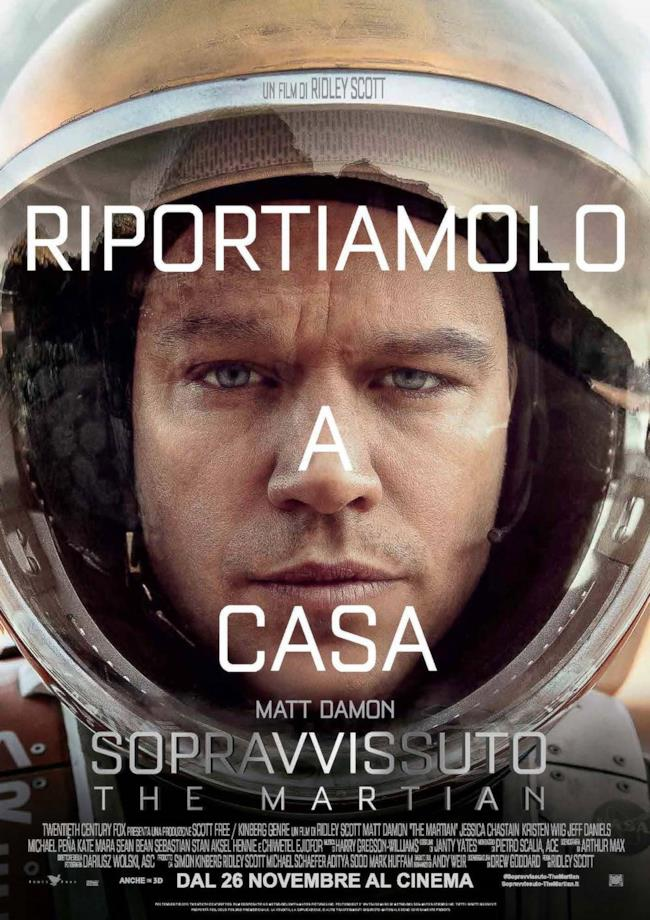 La locandina ufficiale italiana di The Martian Sopravvissuto