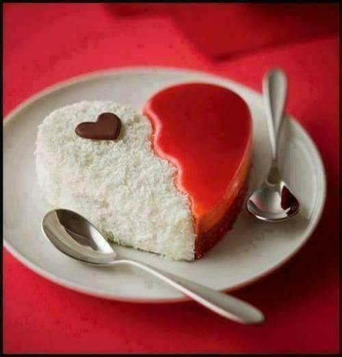 Un dolce a forma di cuore