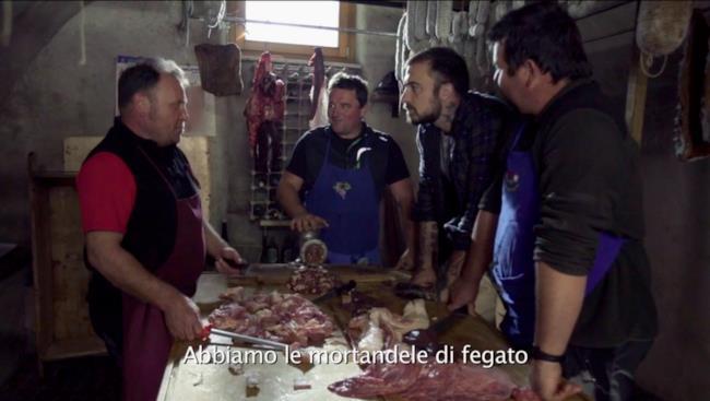 Chef Rubio con i macellai della Val di Non