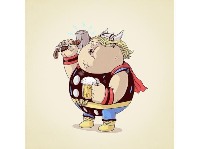 Thor  in versione obesa