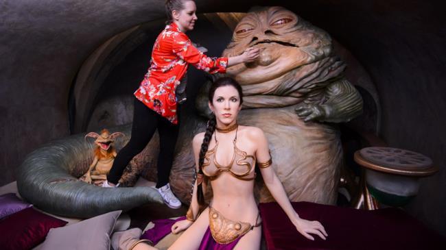 La Principessa Leia e Jabba in esposizione da Madame Tussauds