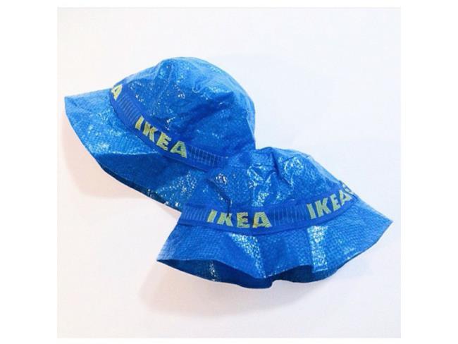 IKEA FRAKTA trasformata in due cappelli