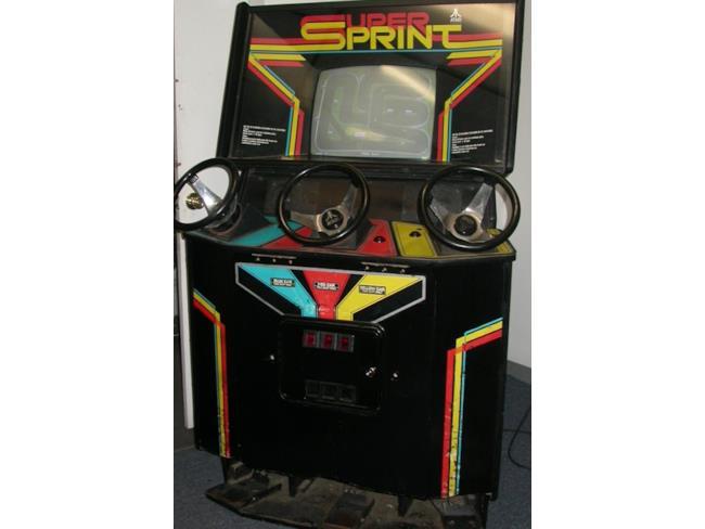 Il cabinet originale di Super Sprint