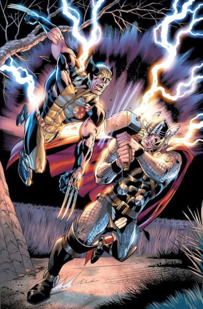 Un immagine di Thor vs Wolverine