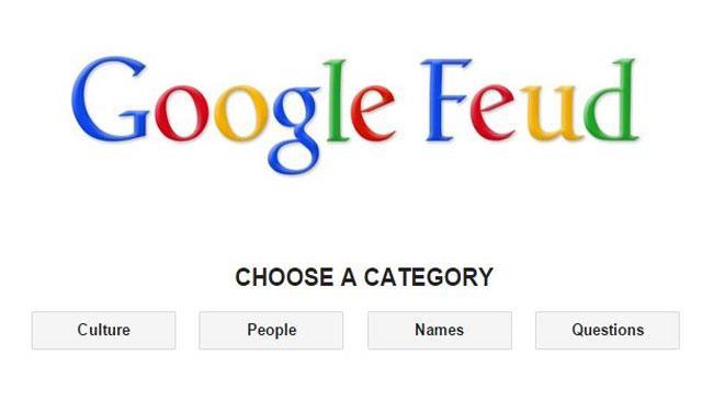 Schermata iniziale di Google Feud