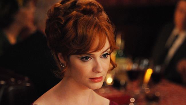 L'attrice Christina Hendricks alias Joan Holloway
