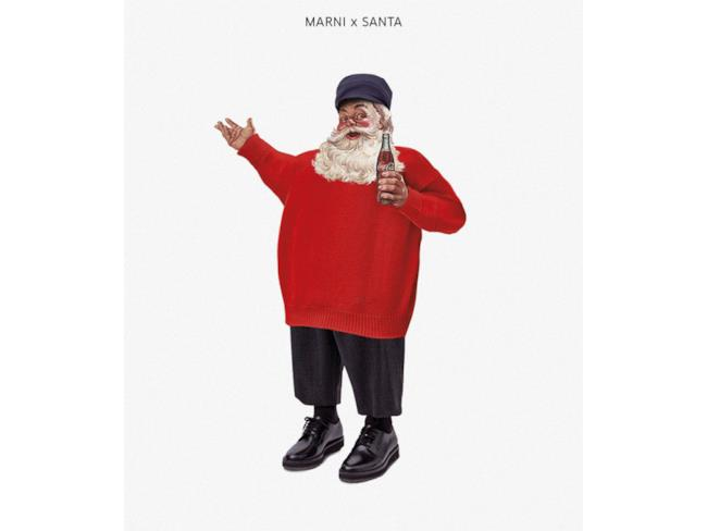 Babbo Natale vestito in stile Marni