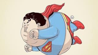 Superman in versione obesa