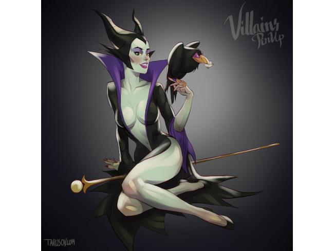 Malefica in versione pin-up