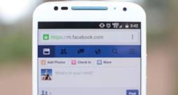 Ecco l'attuale schermata di Facebook in un dispositivo mobile