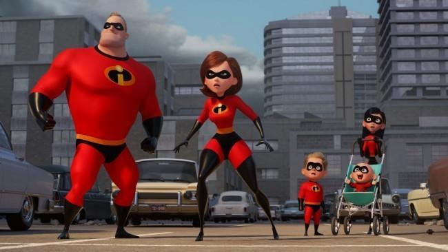 Un'immagine della famiglia Parr estratta dal film
