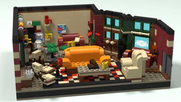 La ricostruzione del Central Perk in versione LEGo