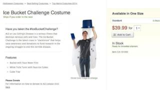 Costume di Hallowen dell'Ice Bucket Challenge