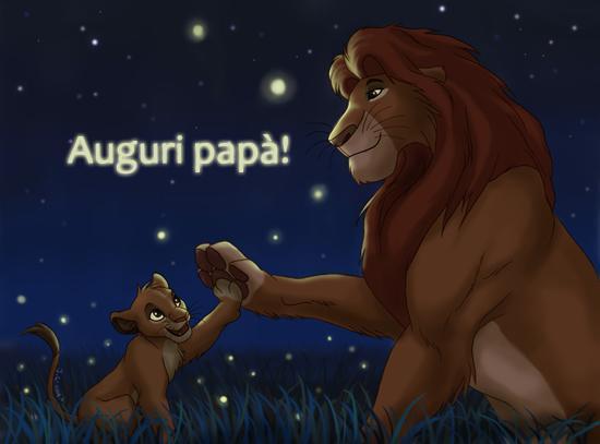 Una scena del Re Leone - Immagini da scaricare per la Festa del Papà