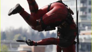 foto scattata sul set di Deadpool, il film