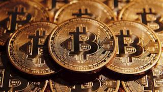 Le monete con il logo dei Bitcoin
