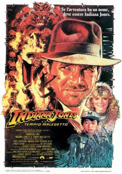 LA locandina di Indiana Jones e il tempio maledetto