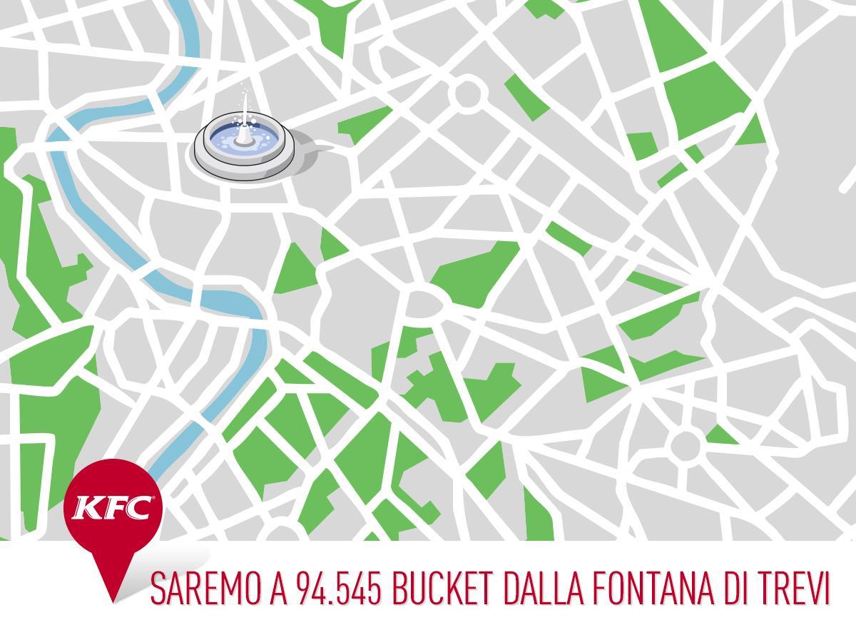 Mappa di Roma di KFC